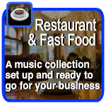 music for restaurants and takeaways