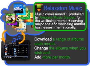 Relaxation music for spas, beauty and wellbeing businesses