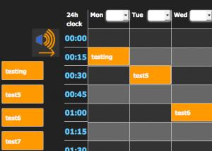 overhead messaging schedule of play