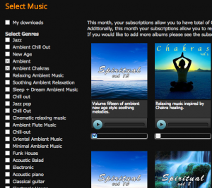 Browse and select music from our online music catalogue