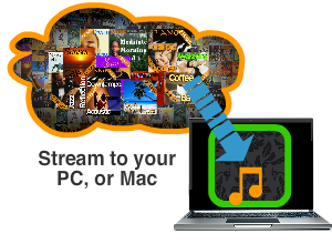 Music streaming service for business