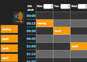 overhead messaging schedule of play
