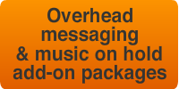 overhead messaging advertising and music on hold add on package subscriptions